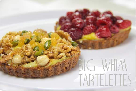 tartlets of nuts and berries