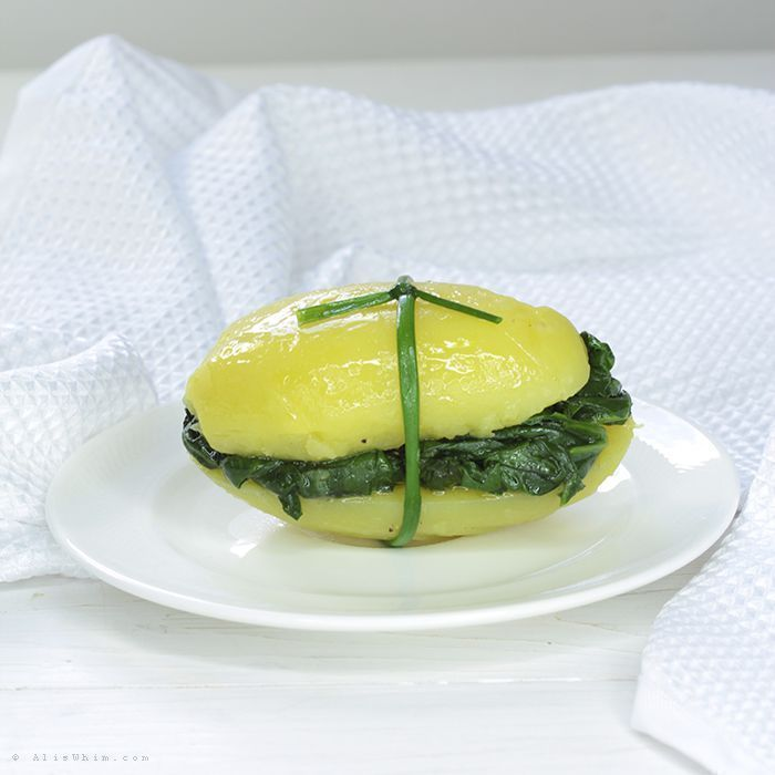 Potato with spinach